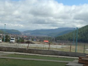 My first view of Mongolia, from a guest resort outside the capital.